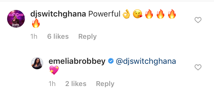 Ghanaian Celebrities reacts to Emelia Brobbey