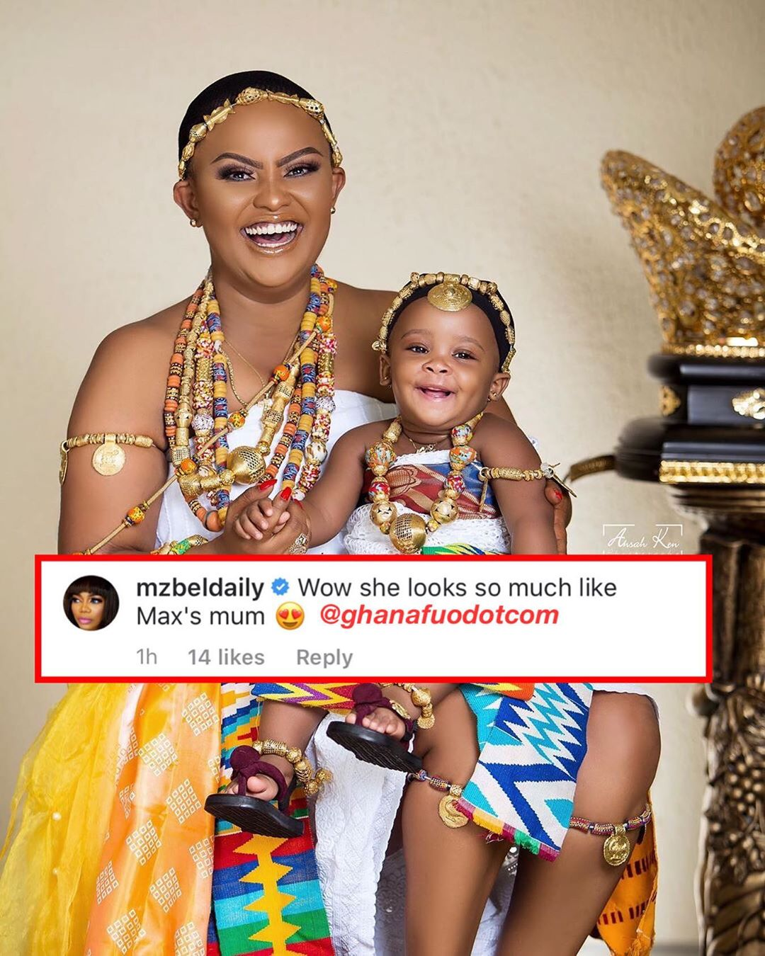 Mzbel Shamelessly Comments On Baby Maxin's PHOTO