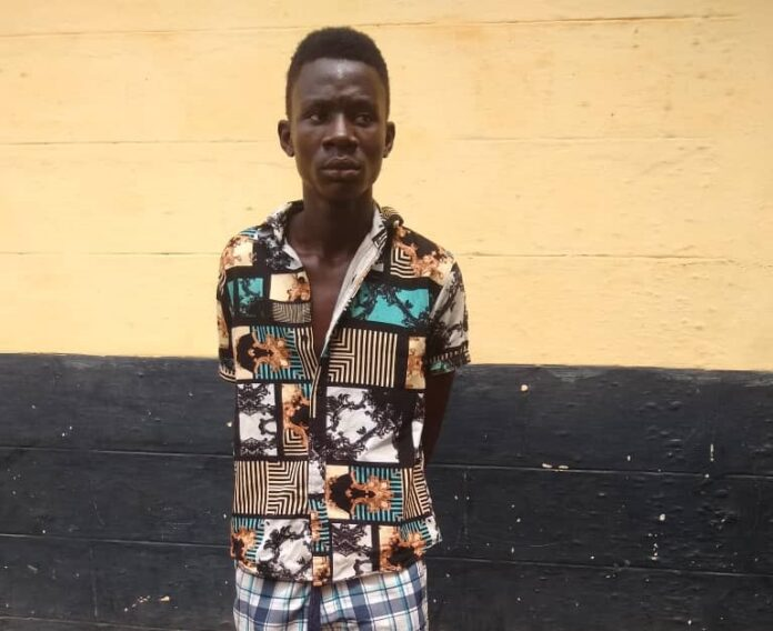 Photo of You Can Run But You Can't Hide !!!! Police Finally arrest 19 year old Atweaman SHS Boy Ebenezer Okoh
