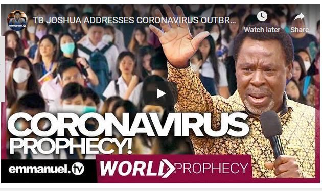 T.B Joshua Reveals The Exact Date Coronavirus Will End