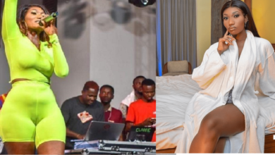 Photo of Wendy Shay removes her dress live on TV to prove she's not wearing a butt-pad